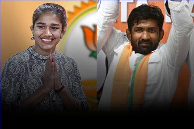 Yogeshwar Dutt,Babita Phoghat,Bharatiya Janata Party,Haryana elections,Indian Wrestlers