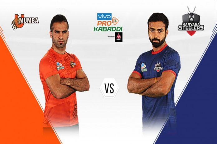 PKL 2019,PKL 2019 Highlight,Haryana Steelers vs U Mumba,PKL 2019 LIVE,Pro Kabaddi League 2019