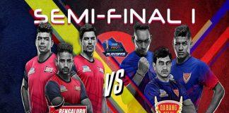 PKL 2019 Semi Final Highlight,PKL 2019 LIVE,PKL 2019 Semi Final,Dabang Delhi vs Bengaluru Bulls, Pro Kabaddi League 2019 Semi Final,