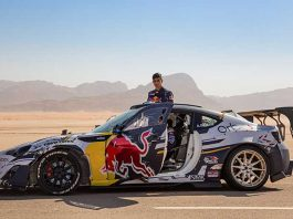 Gurpreet Sandhu learns to make drifts in Desert of Jordan