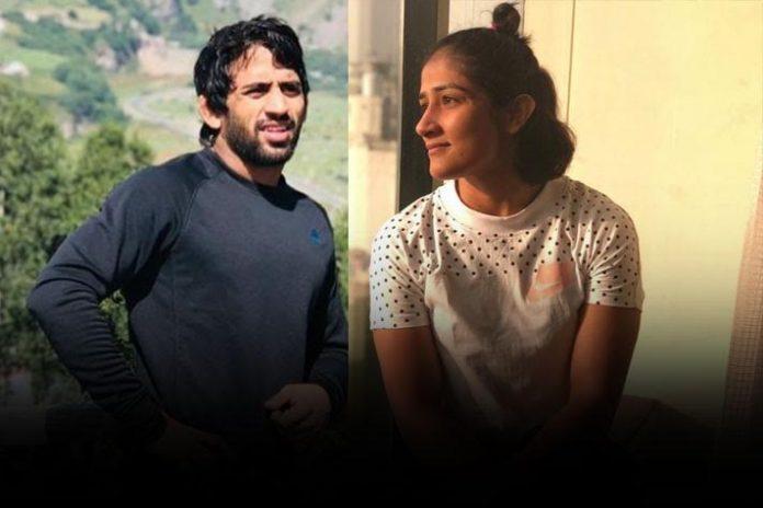 Bajrang Punia,Sangeeta Phogat,Bajrang Punia marriage,Bajrang Punia engagement,Tokyo 2020 Olympics