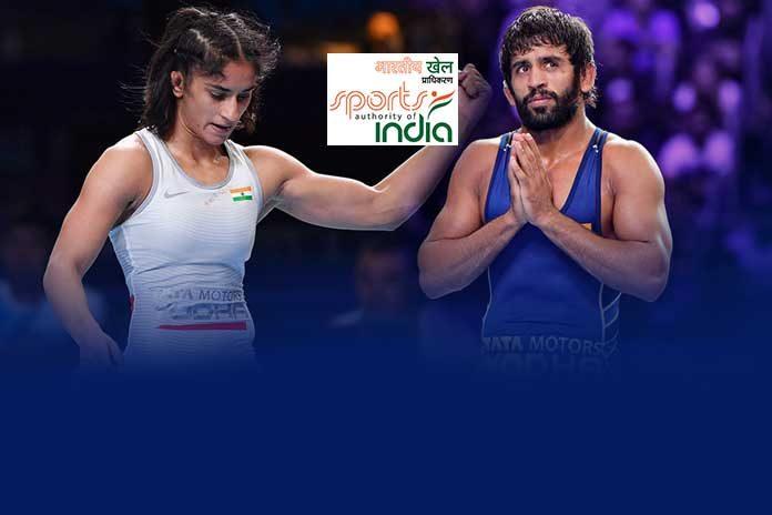 Sports Authority of India,Bajrang Punia,Vinesh Phogat,Tokyo 2020 Olympics,Wrestling News India
