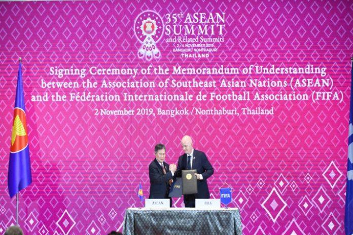 FIFA,ASEAN,Gianni Infantino,Lim Jock Hoi,Sports Business News
