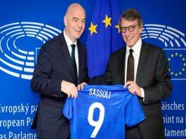 FIFA,Gianni Infantino,European Parliament,David Sassoli,Sports Business News