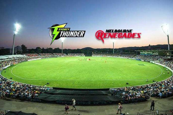 BBL LIVE,BBL LIVE telecast,BBL LIVE Streaming,Big Bash League LIVE,Sydney Thunder vs Melbourne Renegades LIVE