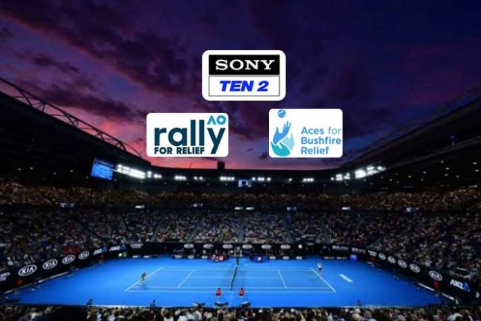 Australian Open 2020,AO Rally for Relief,Sony Sports Pictures Network,AO Rally for Relief LIVE,Sports Business News