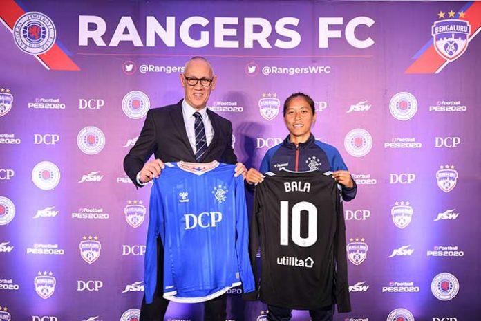 Rangers Football Club,Bala Devi,Manipur Police Sports Club,Bengaluru FC,Indian Women's League