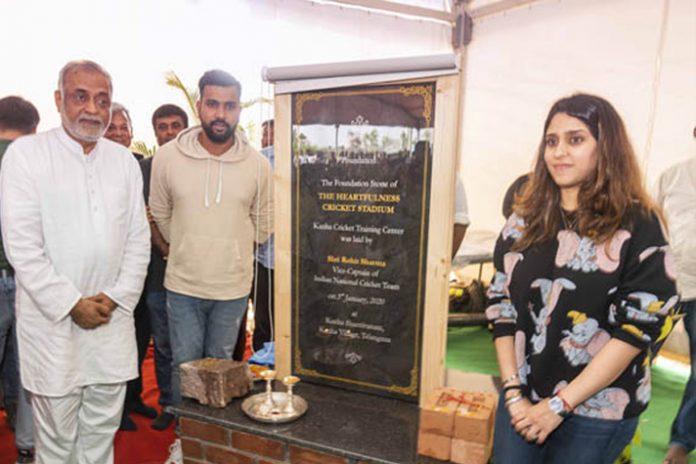 Rohit Sharma,Heartfulness Institute,International Cricket Stadium,Rohit Sharma foundation,Sports Business News India