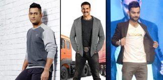 MS Dhoni,Virat Kohli,Brand Endorsement,Akshay Kumar,Sports Business News India