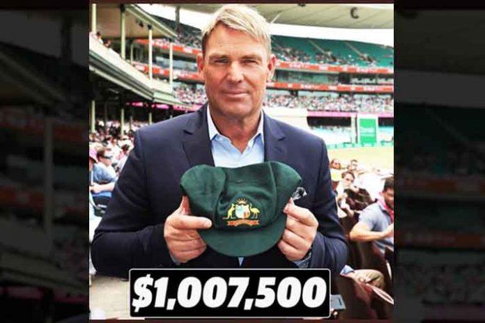 Warne's Baggy Green,Australian Bushfire,Baggy Green Auction,Shane Warne,Sports Business News