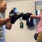 David Warner,David Warner daughter,David Warner video,David Warner boxing lesson,David Warner Instagram