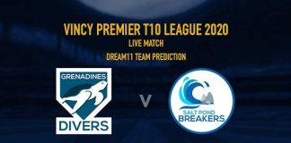 GRD vs SPB Dream11 Team Prediction,GRD vs SPB Dream11 Team,GRD vs SPB Dream11 Prediction,GRD vs SPB LIVE,Vincy Premier T10 League 2020