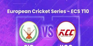ECS T10 League Stockholm 2020 LIVE,European Cricket LIVE,SIG vs KCC Dream11 Team Prediction,SIG vs KCC Dream11 Team,SIG vs KCC LIVE